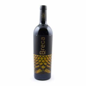fles rode wijn Breca