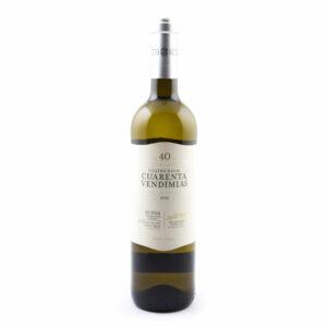 fles witte wijn Cuarenta Vendimias